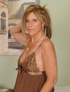 48 Year Old Amanda Jean from  Milfs30 in a  Hot Beige Nighty