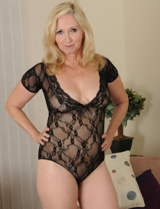 57 Year Old Annabelle from  Milfs30 Looking Sexy in Her Ebony Undies