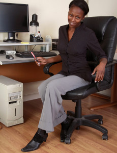 Chocolate Secretary Entice from  Milfs30 Stops Steno to Play Here