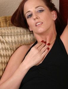Elegant 32 Year Old Long Haired  Mom Fingers Her Engorged  Cunt