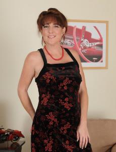 Elegant Looking Redhead Gypsy Lee Pulling at Her Shaven  Vagina Hair
