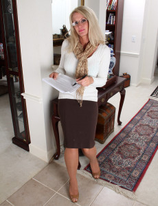 Popular 39 Year Old  Cougar Ingrid Gets out of Her Office  Attire for You