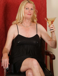 Elegant 55 Year Old Likes a Bit of Wine and then Herself in Here
