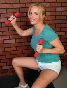 39 Year Old  Blond  Cougar Katrina Gets Playful After Her Workout