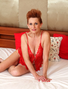 58 Year Old Lucy O from  Milfs30 Crams Her  Older  Beaver with Her  Fake Penis