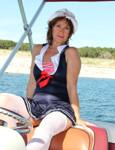 53 Year Old  Wife Lynn Liking a  Nude Boat Rail for You to See