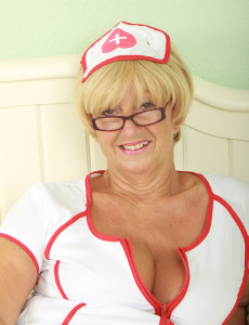 62 Year Old Samantha from  Milfs30 Plays a  Super  Super  Super Insatiable Nurse in Here 