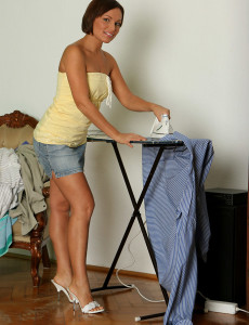 Tight Bodied Szilvia Displays a Tight  Older Stunner  Rump After Housework