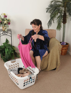 50 Year Old Anna D Cracks from Foling Laundry to Put on a Show Here