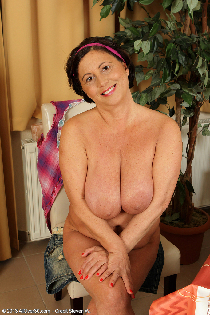52 years busty housewife riding a dildo 2
