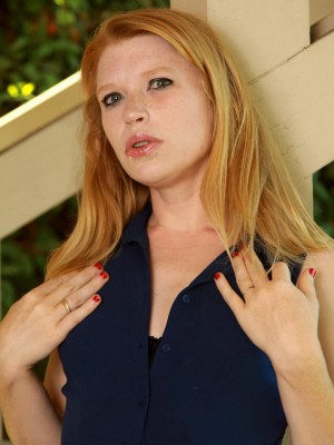Madison Youthfull Exposes Her Stunningly Pale and Puny Figure on the Patio