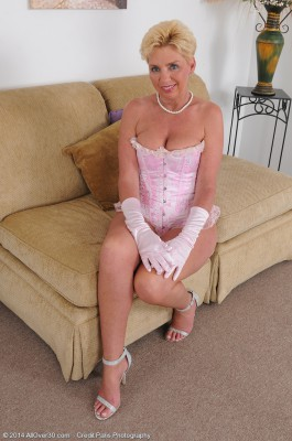 47 Year Old Taylor Lynn from  Milfs30 Removing Her Frilly Pink Lace