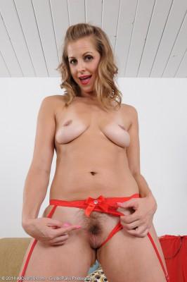 33 Yr Old Melissa Rose in Red Thong Masturbating on Her Behalf Behalf  Hairy Honeypot