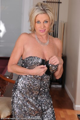 53 Yr Old Payton Hall Glides out of the Lady Elegant Dress Only for You