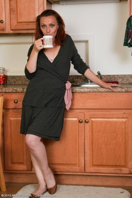 Slender 33 Yr Old Amber K from  Milfs30 Gets Herself Hot in the Kitchen