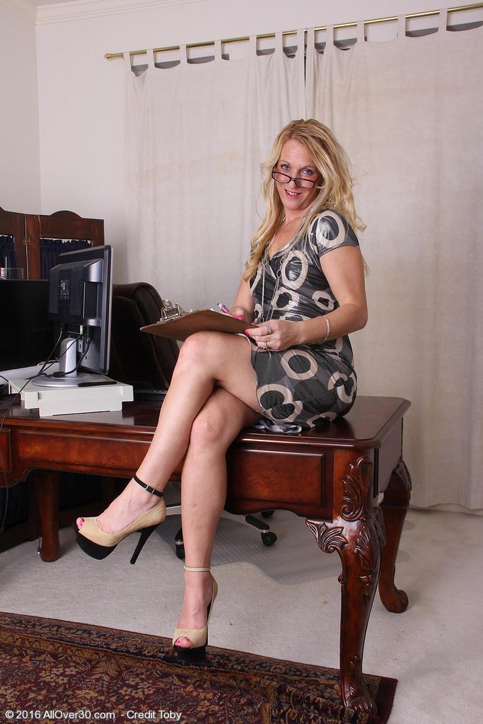 Mature Strip Elegant Office 14