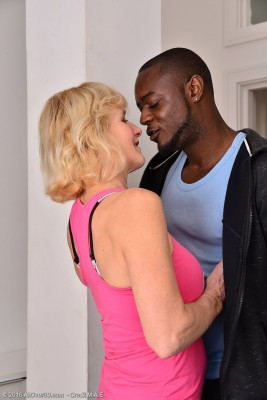Older  Blond Molly Maracas Gets a Hardcore Banging by the Woman Work out Fucking Partner