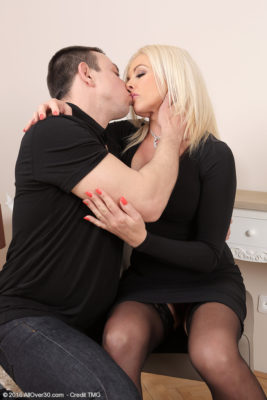 Big Breasted  Blond Haired Carolina Carla Takes Her Man's Dick