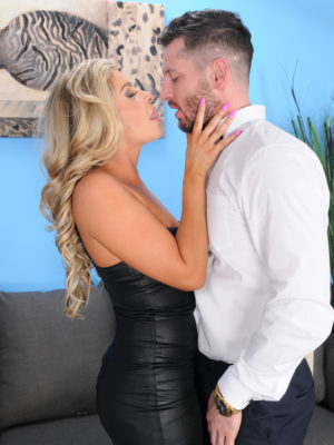 Nikki Capone Deep Throats and Fucks Her Fortunate Man