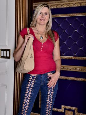 Beautiful  Blond Velvet Skye Shows Her Big Bra-stuffers