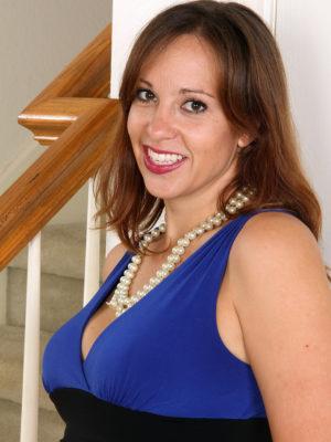 Luxurious Cassandra Johnson in Black and Blue