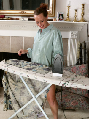 Leilani Johnson Does Some Sexy Ironing